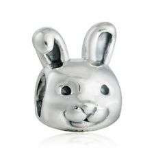 Solid Sterling Silver Remarkable Rabbit Charm bead Fit Original Bracelet jewelry