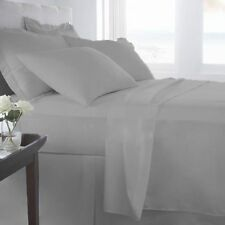 "15""to30"" Deep Pkt Bedding Items 1000TC Egyptian Cotton Silver Grey Solid AU Size"