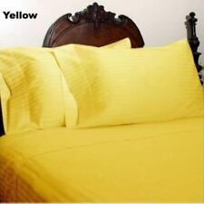 "15""to 30"" Deep Pkt Bedding Items 1000TC Egyptian Cotton Yellow Stripe AU Size"