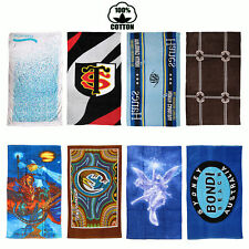 8 Designs Choice - 100% COTTON Velour Beach Bath Towel LARGE 75cm x 150cm
