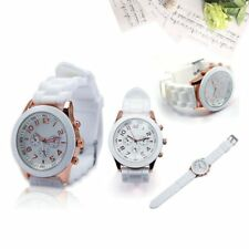 Womens Mens Geneva Fashion Silicone Jelly Gel Watchband Quartz Wrist Watch