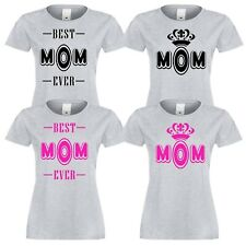 WOMEN BEST MOM EVER DESIGN PRINTING COTTON T-SHIRT SHORT SLEEVE women tshirt