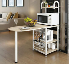 Kitchen Island Cart Benchtop Storage Shelf Bench Breakfast Bar Table 3 colours