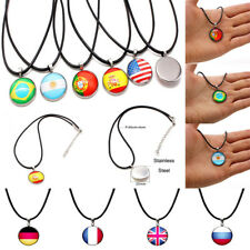 Fashion Necklace Pendant For Football World Cup National Flag FIFA Soccer Fans