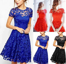 UK New Womens Lace Mini Dress Ladies Evening Party Cocktail Bridesmaids Dresses