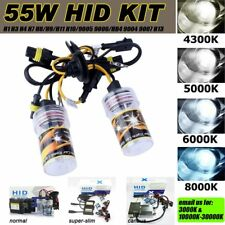 55W HID 6000K White XENON HEADLIGHT CONVERSION KIT REPLACE CAR DRL FOGLIGHT 12V