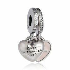 authentic 925 sterling silver together forever enamel Clear Cz genuine charms