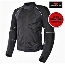 TORQUE MOTORCYCLE TEXTILE SUMMER JACKET CE ARMOUR SIZES: M