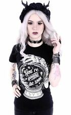 Restyle Gothic Goth Occult You're Gonna Die Soon Classic T-shirt Black