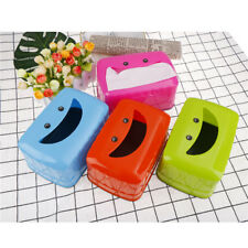 Smile Face Tissue Box Container Towel Napkin Tissue Box Organizer Table Decor SR