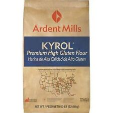 Kyrol Premium High Gluten Flour 50 pound Bag Great for hearth breads, hard and K
