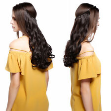 US Secret Headband Wire in Hair Extensions Elastic Invisible Hairpiece Long Wavy