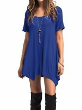 Adreamly Women's Scoop Neck Loose Fit Flowy Tunic Top