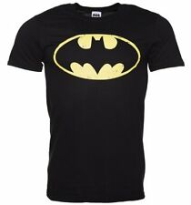 Official Men's Black Distressed Batman Logo T-Shirt