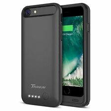 iPhone 7 8 Battery Case 3200mAh Portable Charger Extended Battery Black