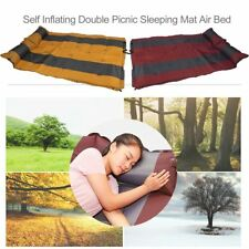 SELF INFLATING CAMPING MATTRESS MAT AIR BED WITH PILLOW JOINABLE SN
