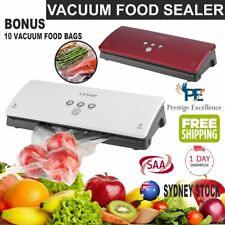 OZ Vacuum Food Sealer Machine Saver Storage Preservation Heat with Free Bags ON.