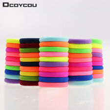 20pcs/lot Candy Fluorescence Colored Hair Holders High Quality Rubber Bands