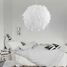 Modern Pendant Light Romantic Dreamlike Feather Droplight Bedroom Hang Lamp T5