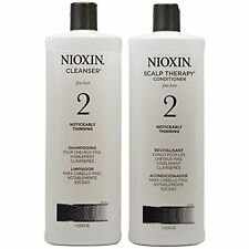 Nioxin System Duo Cleanser Scalp Therapy 33.8 oz. each Shampoo & Conditioner