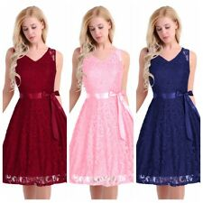 Women's Vintage Lace Formal Wedding Cocktail Evening Party Prom Swing Dress News