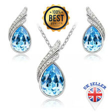 Austria Crystal Necklace Earring Jewelry Set with Rhinestone Necklace&Earrings