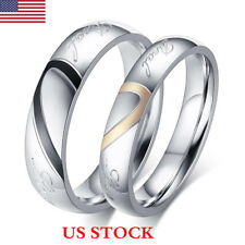 Woman Man Jewelry Wedding Ring Heart Couple Rings Titanium Steel Rings Gifts