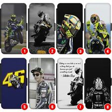 Rossi Leather Wallet Case For Iphone & Galaxy Motogp Vr46 The Doctor Yamaha Vale