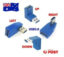 USB 3.0 Male to Female Plug Connector Adapter Changer Left Right Angle Converter
