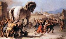 Baroque Art Print of a scene from the Trojan War: Procession of the Trojan Horse