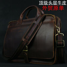 Luxury Genuine Leather Briefcase Men Briefcase Leather Laptop Bag portfolio men