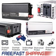 1500W-3000W DC 12V to AC 220V Portable Car Power Inverter USB Charger Converter
