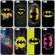 Batman Superhero Logo Design Hard Case Cover For iPhone 7 8 X Samsung Huawei