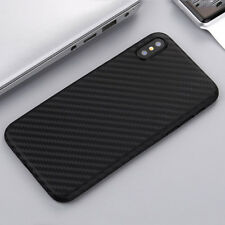Ultra Thin Slim Carbon Fiber Matte Hard Protective Phone Case Cover For iPhone X