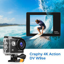 "Craphy W9SE UHD 4K Sports Camera DV Action 2"" 12MP 30M Waterproof WiFi USB HDMI"