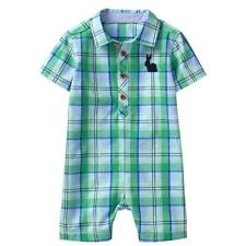 NWT Gymboree Baby Bunny Plaid Romper Baby Boy 0-3-6-12-18-24