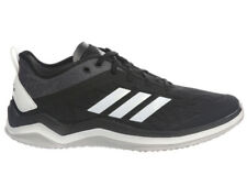 NEW MENS ADIDAS SPEED TRAINER 4 RUNNING SHOES TRAINERS BLACK / WHITE
