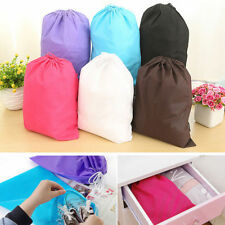 Waterproof Non-woven shoe Clothes storage bag Travel Wash Pouch Drawstring bag