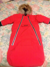 New Authentic Canada Goose Green Lamb/ Red Bunny Bunting Snowsuit Infant, 6-12 M