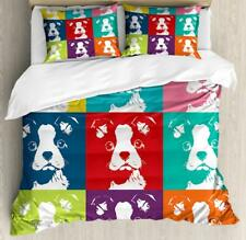 Boston Terrier Duvet Cover Set Twin Queen King Sizes with Pillow Shams Bedding
