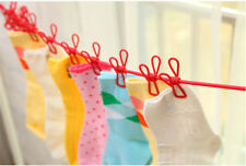 Elastic Washing Line 12 Clips Rope Clothes Camping Travel Hanging Laundry Drying
