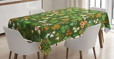 St. Patrick's Day Tablecloth Ambesonne 3 Sizes Rectangular Table Cover Decor