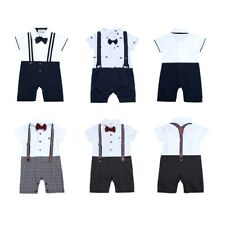 Newborn Baby Boy Gentleman Set Toddler Kids One-piece Romper Jumpsuit Clothes