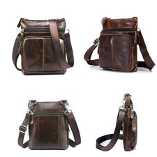 Mens Genuine Leather Handbag Vintage Satchel Shoulder Messenger Bag Briefcase #C