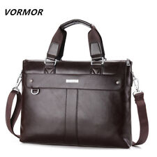 VORMOR 2018 Men Casual Briefcase Business Shoulder Bag Leather Messenger Bags