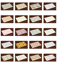 Vintage Kids Placemats Set of 4 by Ambesonne Washable Fabric Place Mats