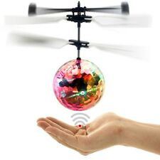 NEW Flash Flying Ball Infrared Induction Colorful LED Disco RC Helicopter Toy
