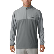 Adidas Golf 1/4 Zip Stretch Pullover Vista Grey M - NEW WITH TAGS