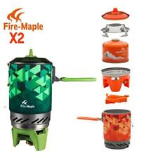 Camping Stove Compact One-piece Heat Exchanger Pot Set Cooking System