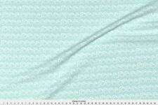 Waves Blue Summer Aqua Fabric Printed by Spoonflower BTY